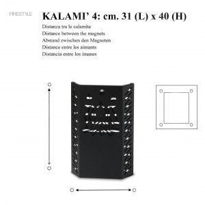 KALAMI' 4 (h. cm. 40): Baby Gate, Safety Barrier for pellet and wood stoves, Burn Protection Children and Pets, designed by Firestyle®, 100% Made in Italy.