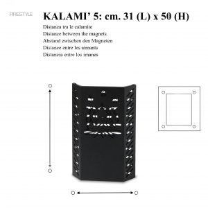 KALAMI' 5 (h. cm. 50): Baby Gate, Safety Barrier for pellet and wood stoves, Burn Protection Children and Pets, designed by Firestyle®, 100% Made in Italy.