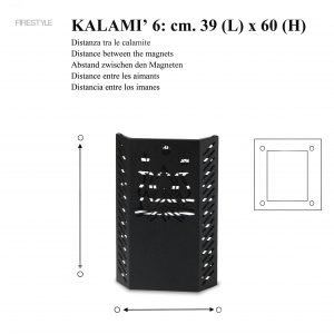 KALAMI' 6 (h. cm. 60): Baby Gate, Safety Barrier for pellet and wood stoves, Burn Protection Children and Pets, designed by Firestyle®, 100% Made in Italy.