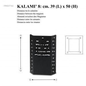 KALAMI' 8 (h. 50 cm): Protezione proteggi bimbi e animali domestici per Stufa a pellet e a legna, salva ustioni, disegnato da Firestyle®, 100% Made in Italy.