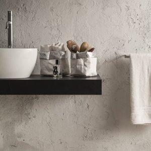 ADUA SET: Set of 2 Storage Basket Bag cellulose fiber two layers color shine Silver and White inside, food basket, basket for each use. Made in Italy, Limac Design®.