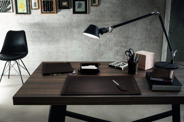 Zweiteiliger Schreibtisch aus Leder DONIO