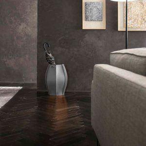 AUDREY: porta-ombrelli in cuoio Antracite, portaombrelli di design con vaschetta raccogligocce, portaombrello made in Italy Limac Design®.