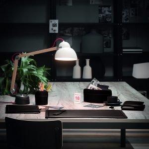 BRANDO SOTTOMANO: Sottomano da scrivania in cuoio colore Testa di Moro, sottomano ufficio, con angoli arrotondati, antiscivolo, Made in Italy by Limac Design®.