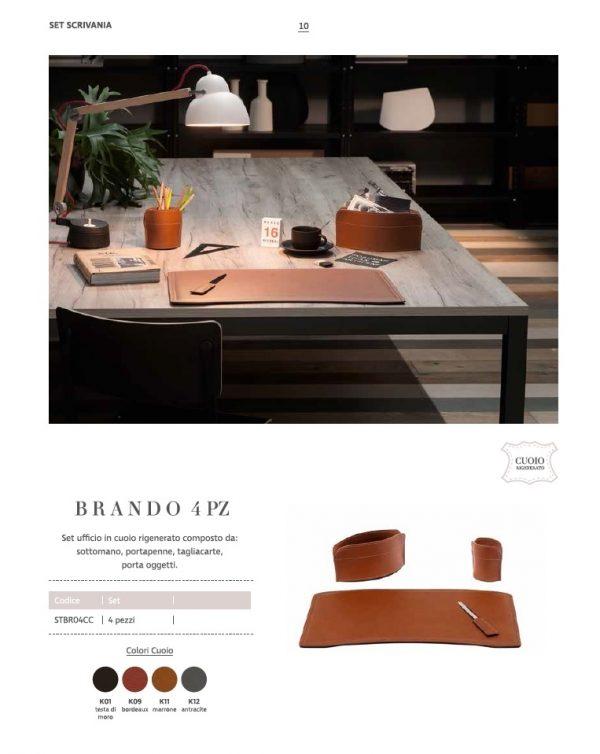 Leder-Schreibtischset aus leder BRANDO 5