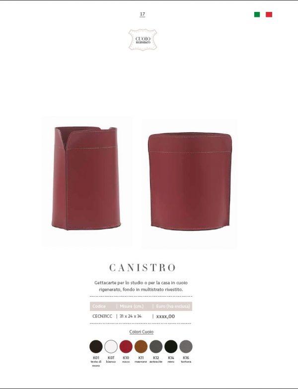 Papierkorb aus leder CANISTRO