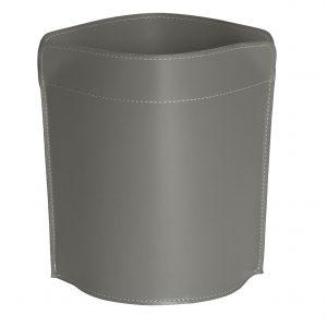 CANISTRO cestino gettacarte in cuoio colore Tortora cesto gettacarte di design, per casa e ufficio by Limac Design®.