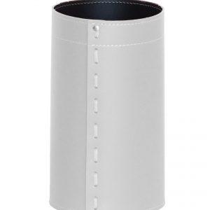 BATTISTA: cestino gettacarte in cuoio colore bianco, gettacarte di design, per casa e ufficio by Limac Design®.