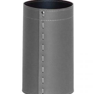 BATTISTA: cestino gettacarte in cuoio colore grigio antracite, gettacarte di design, per casa e ufficio by Limac Design®.