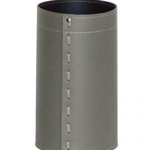 BATTISTA: cestino gettacarte in cuoio colore tortora, gettacarte di design, per casa e ufficio by Limac Design®.
