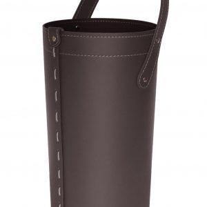 CIARY: set da camino in cuoio colore Testa di Moro composto da borsa porta-ferri in cuoio, attrezzi da camino con manico in cuoio, sacca portaferri, idea regalo, prodotto in Italia da Firestyle®.