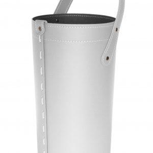 CIARY: set da camino in cuoio colore Bianco composto da borsa porta-ferri in cuoio, attrezzi da camino con manico in cuoio, sacca portaferri, idea regalo, prodotto in Italia da Firestyle®.