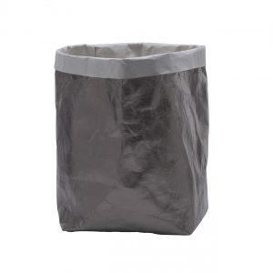 IDA 32: Contenitori in cellulosa Shine Bronzo, interno colore Grigio, portabiancheria, cesta per biancheria, contenitore per giochi, Made in Italy, design esclusivo Limac Design®.