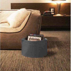 GIUSY: portariviste in cuoio colore Antracite, borsa in cuoio, cesto, cestino, contenitore, Made in Italy by Limac Design®.