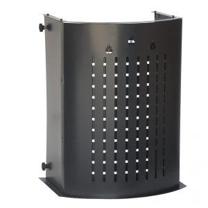 HERMO 78: Protezione Salvaustioni per Stufa a pellet e a legna, proteggi bimbo, protezione da ustioni e scottature, doppio schermo di sicurezza, disegnato da Firestyle®, 100% Made in Italy.