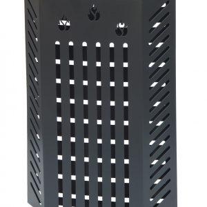 KALAMI' 2.6 (h. cm. 60): Protezione Salvaustioni per Stufa a pellet e a legna, proteggi bimbo, protezione da ustioni e scottature, doppio schermo di sicurezza, disegnato da Firestyle®, 100% Made in Italy.