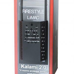 KALAMI' 6: Protezione Salvaustioni per Stufa a pellet e a legna, proteggi bimbi e animali domestici, doppio schermo di sicurezza e staffe fissaggio, disegnato da Firestyle®, 100% Made in Italy.