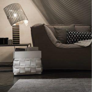 LORY: portariviste in cuoio intrecciato colore Rosso, borsa in cuoio, cesto, cestino, contenitore, Made in Italy by Limac Design®.