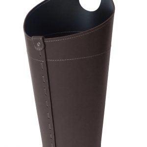 PLUVIA: porta-ombrelli in cuoio colore testa di moro, portaombrelli di design con raccogligocce, porta ombrelli per Casa, Ufficio, Hotel, Limac Design®.