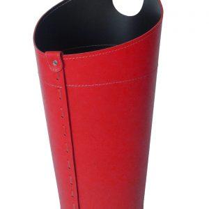 PLUVIA: porta-ombrelli in cuoio colore rosso, portaombrelli di design con raccogligocce, porta ombrelli per Casa, Ufficio, Hotel, Limac Design®.