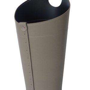 PLUVIA: porta-ombrelli in cuoio tortora, portaombrelli di design con raccogligocce, porta ombrelli per Casa, Ufficio, Hotel, Limac Design®.