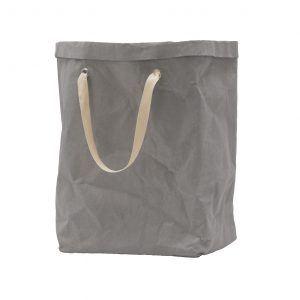 ISIDE: Borsa in cellulosa colore Grigio, completa di sacco, cesta portabiancheria, contenitore per giochi, portaoggetti, borsa mare, Made in Italy by Limac Design