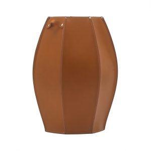 AUDREY: porta-ombrelli in cuoio Marrone, portaombrelli di design con vaschetta raccogligocce, portaombrello made in Italy Limac Design®.