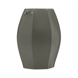AUDREY: umbrella stand in leather Dove Grey colour, Inside there is plastic drip trat, Walking Stick Stand made in Italy Limac Design®.