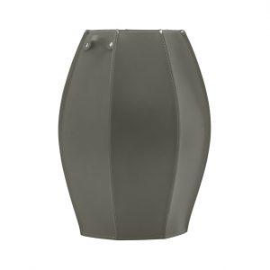 AUDREY: porta-ombrelli in cuoio Tortora, portaombrelli di design con vaschetta raccogligocce, portaombrello made in Italy Limac Design®.