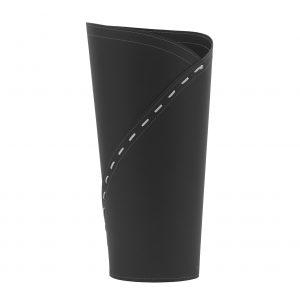 KATRINA: porta-ombrelli in cuoio Nero, portaombrelli di design con vaschetta raccogligocce, portaombrello made in Italy Limac Design®.