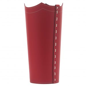 UMBRELLA: porta-ombrelli in cuoio Rosso, portaombrelli di design con vaschetta raccogligocce, portaombrello made in Italy by Limac Design®.