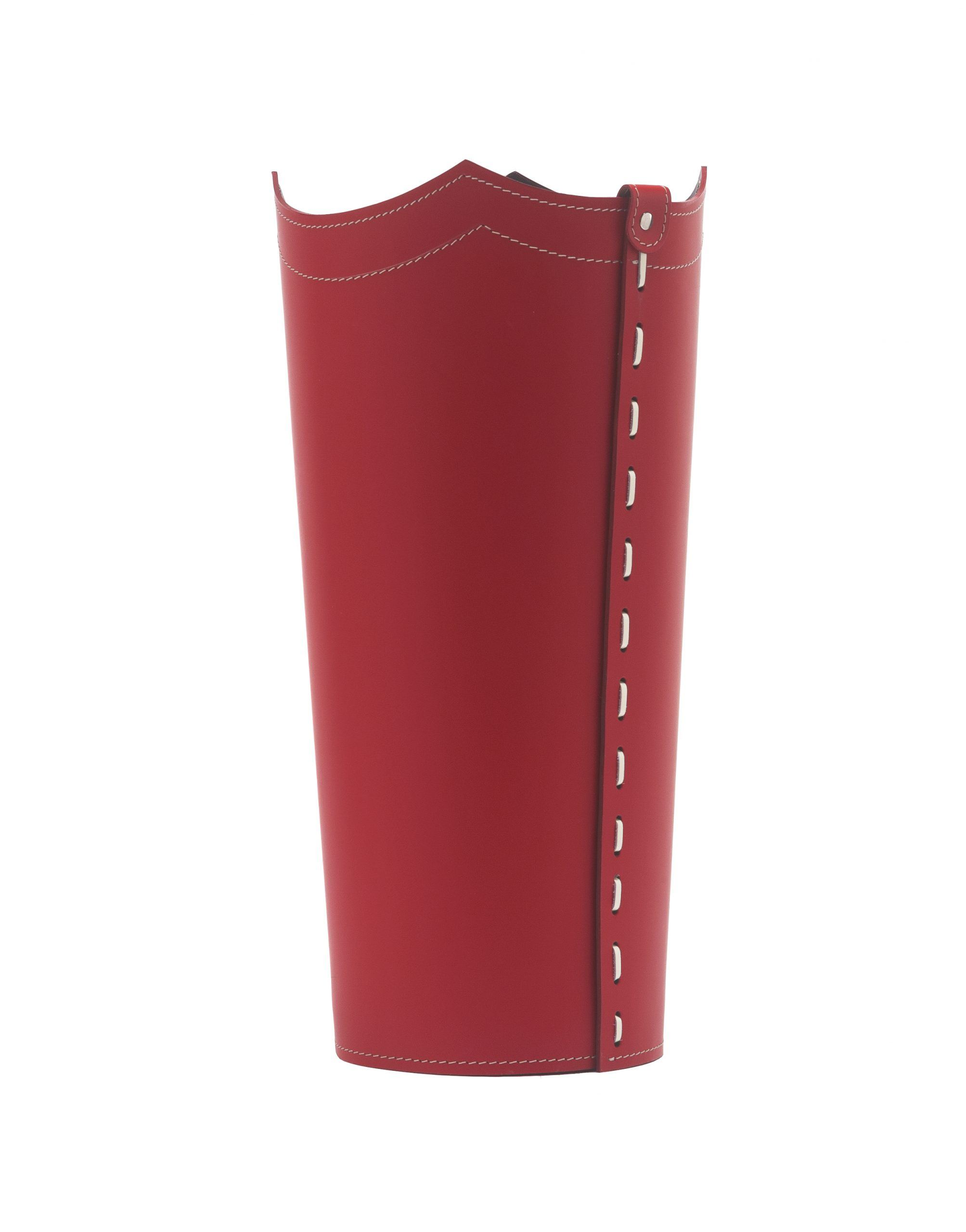 Umbrella Stand In Leather Red Colour