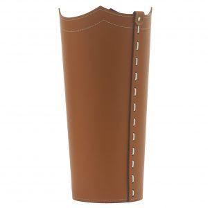 UMBRELLA: porta-ombrelli in cuoio Marrone, portaombrelli di design con vaschetta raccogligocce, portaombrello made in Italy by Limac Design®.