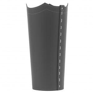 UMBRELLA: porta-ombrelli in cuoio Antracite, portaombrelli di design con vaschetta raccogligocce, portaombrello made in Italy by Limac Design®.