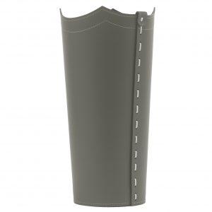 UMBRELLA: porta-ombrelli in cuoio Tortora, portaombrelli di design con vaschetta raccogligocce, portaombrello made in Italy by Limac Design®.
