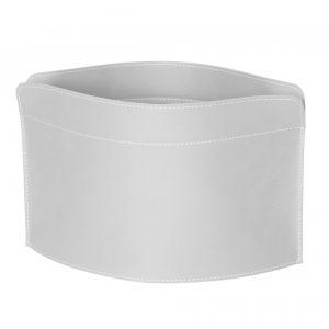 GIUSY: Revistero en cuero color Blanco, para diarios y revistas, para cuarto de baño, oficina, recibidor, Made in Italy by Limac Design®.