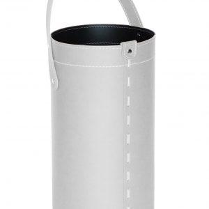 REGEN: porta-ombrelli in cuoio colore bianco, portaombrelli di design con raccogligocce, porta ombrelli per Casa, Ufficio, Hotel, Limac Design®.