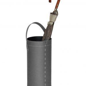 REGEN: porta-ombrelli in cuoio colore grigio antracite, portaombrelli di design con raccogligocce, porta ombrelli per Casa, Ufficio, Hotel, Limac Design®.