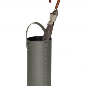 REGEN: porta-ombrelli in cuoio colore tortora, portaombrelli di design con raccogligocce, porta ombrelli per Casa, Ufficio, Hotel, Limac Design®.