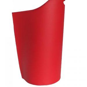 SAPEL: borsa porta pellet in cuoio colore Rosso, contenitore per stufa, borsa portapellet, per la casa, Ufficio, Hotel, design Firestyle®, Made in Italy.
