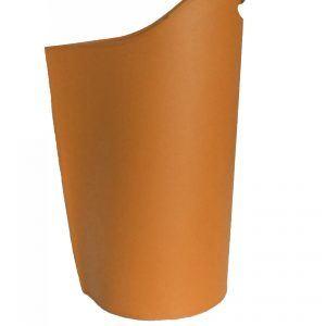 SAPEL: borsa porta pellet in cuoio colore Marrone, contenitore per stufa, borsa portapellet, per la casa, Ufficio, Hotel, design Firestyle®, Made in Italy.