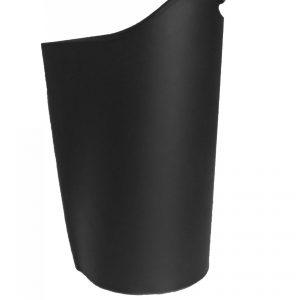 SAPEL: borsa porta pellet in cuoio colore Nero, contenitore per stufa, borsa portapellet, per la casa, Ufficio, Hotel, design Firestyle®, Made in Italy.