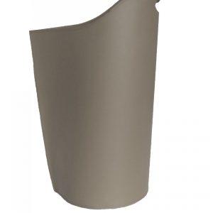SAPEL: borsa porta pellet in cuoio colore Tortora, contenitore per stufa, borsa portapellet, per la casa, Ufficio, Hotel, design Firestyle®, Made in Italy.