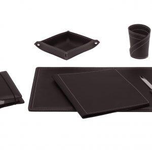 Almohadilla de escritorio set 6 piezas en cuero ASCANIO 6