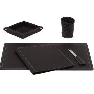 Almohadilla de escritorio set 5 piezas en cuero ASCANIO 5