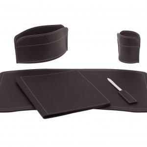 Almohadilla de escritorio set 5 piezas en cuero BRANDO 5
