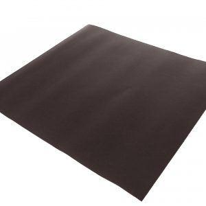 TAQUA: tappeto in ecopelle ignifuga colore Testa di Moro, tappeto per stufa, tappeto per caminetto, protezione stufa, Made in Italy, brevetto Firestyle®.
