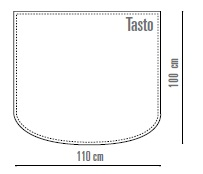 Tappeto in ecopelle ignifuga TASTO