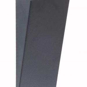 """PICCHIO """"TRIA"""": umidificatore in acciaio inox verniciato colore Antracite, con essenza profumata, evaporatore universale per stufe e caminetti, con calamita, disegnato da Firestyle®"""