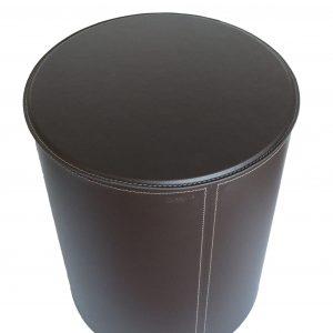 Porte bûches-pellet en cuir avec structure en acier TUTUN